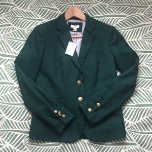 J Crew Green Wool Blazer size 00